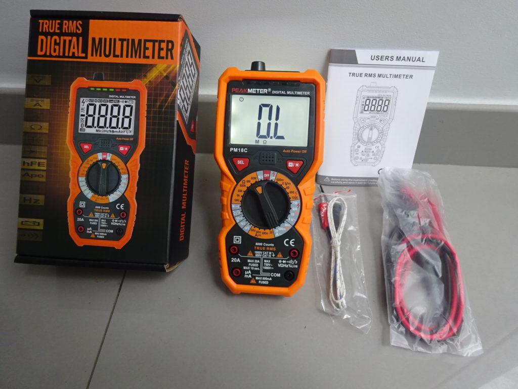Multímetro Digital – Peak Meter PM18C