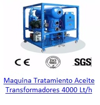 Maquina de Tratamiento de Aceite para Transformadores 4000 Lt/h