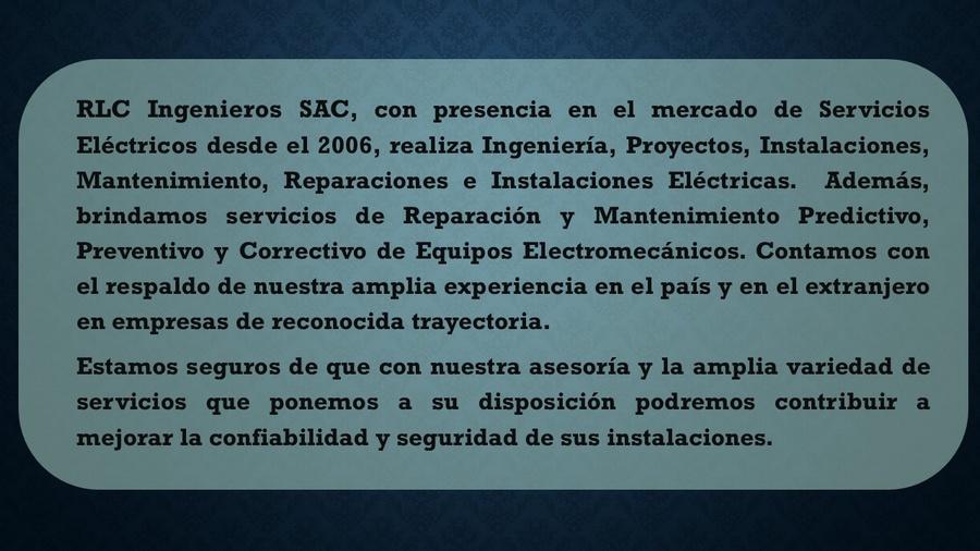 descripción RLC Ingenieros