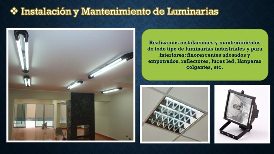 Instalación y Mantenimiento de Luminarias